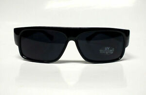 Schwarze Sonnenbrille Old School Locs EAZY-E Gangster Flat Top Sunglasses