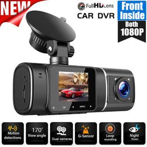 TOGUARD Uber Car DVR Dual Len Dash Cam 2x1080P NightVision Video Recorder Camera