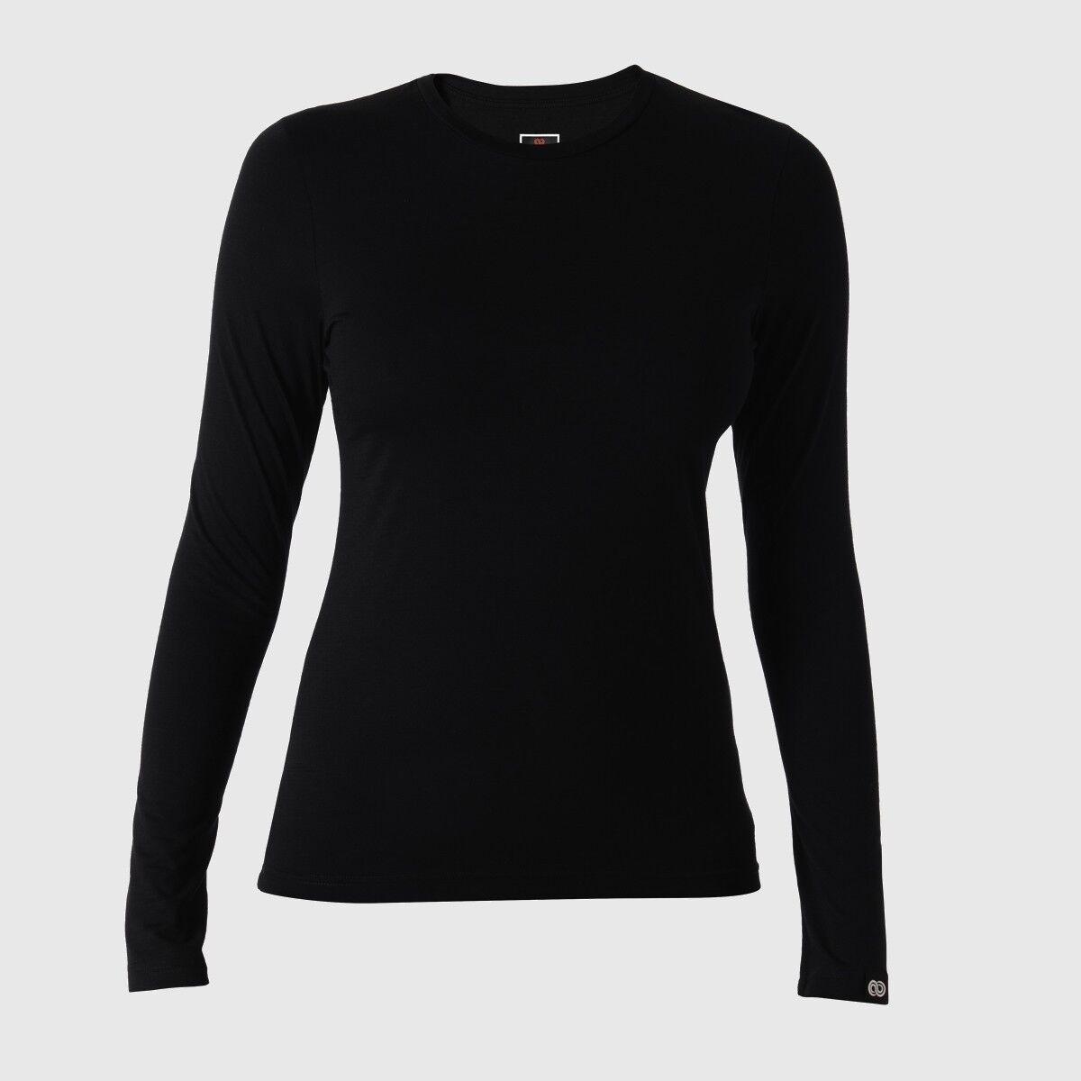 ROTA Rewoolution Berry  Damenschuhe T-Shirt T-Shirt Damenschuhe Long Sleeve 140  schwarz Merinowolle Gr L 70956a