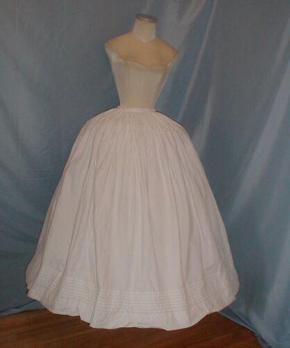 Vintage Dress Petticoat Antique Victorian 1860 Whi