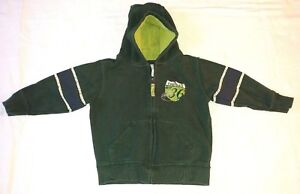 Carter's Toddler Boys Zip Up Hoodie Jacket Football Green Size 3T