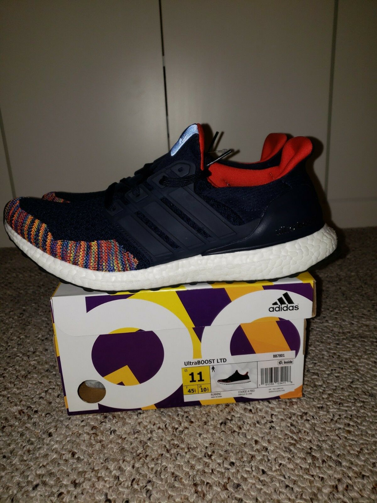 9bd8487dc Adidas Ultraboost 1.0  Multi-color Toe  Navy Mens Size 11 Ltd  nhqzmf640-Athletic Shoes