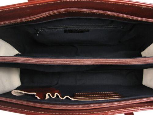 ECHT LEDER Tasche ital Damentasche A4 Aktentasche Vachetta Braun GL224BV