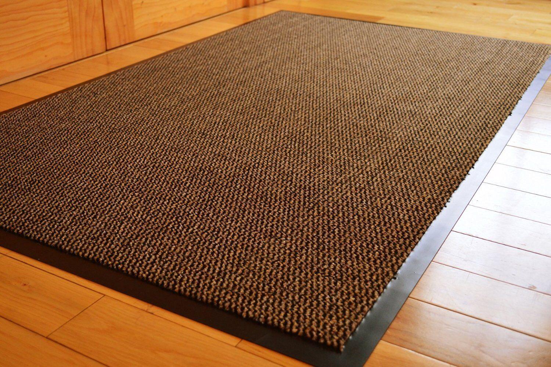 Heavy duty barrière tapis antidérapants en caoutchouc caoutchouc caoutchouc porte arrière hall tapis 80x120 marron/noir | Qualité Fiable  5f29b0
