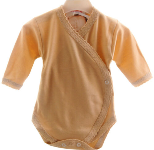 Baby Body Wickelbody 56 62 68 NEU Unisex Neutral 100/% Baumwolle Babybody