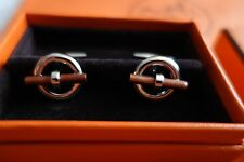 Authentic HERMES cufflinks - brand new, boxed wood trimmed