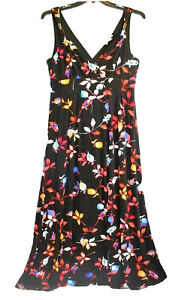 Jennifer-Lopez-Size-XL-Petite-Maxi-Floral-Long-Stretchy-Dress-Womens-Sleeveless