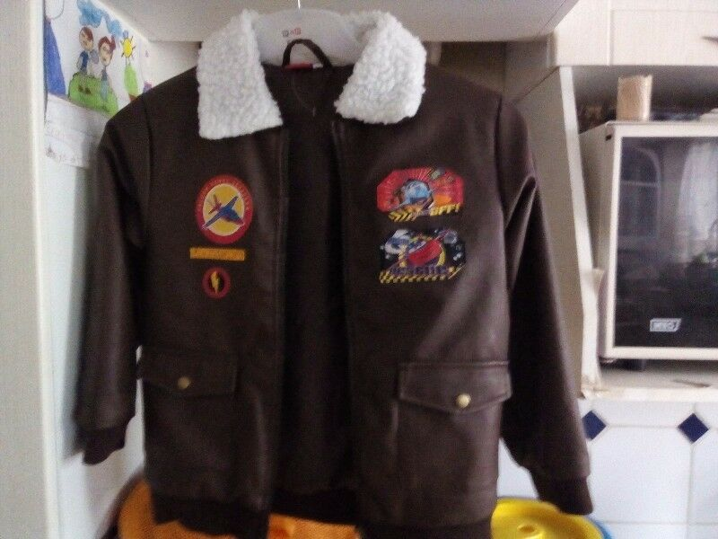Leather-look jacket size 9-10years