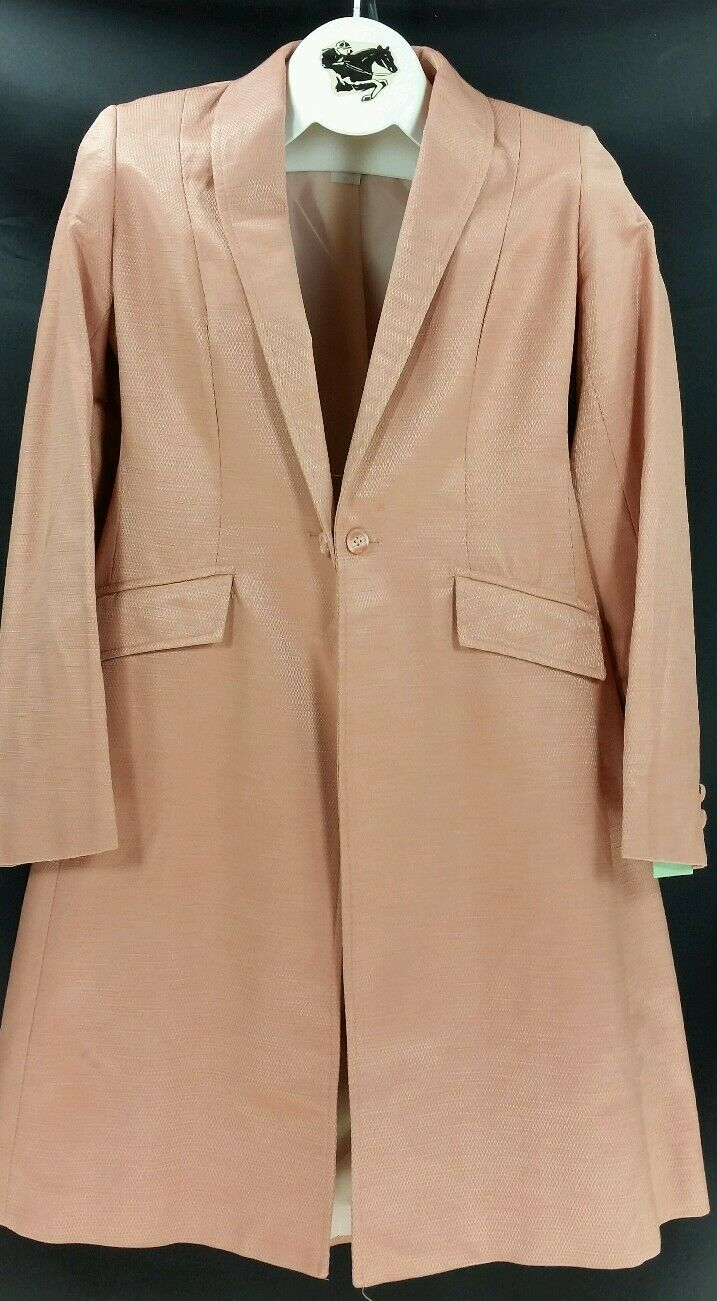 Reed Hill Saddleseat Day Coat CORAL   PEACH Cotton Teflon size 8   10 - USA