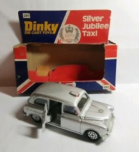DINKY-1977-Diecast-QUEEN-039-S-SILVER-JUBILEE-AUSTIN-TAXI-241-Boxed