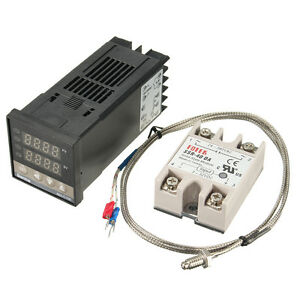 100-240V-Digital-PID-Temperature-Controller-40A-SSR-K-Thermocouple-Sensor