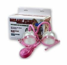 NEW AUTOMATIC BREAST PUMP BREAST ENHANCE ENLARGEMENT TWIN CUPS SOFT RINGS 14091