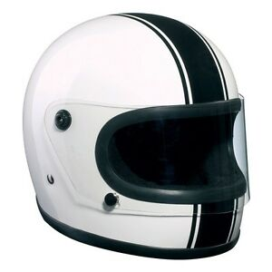 Casco-BANDIT-Integral-Clasico-Blanco-con-franja-negra