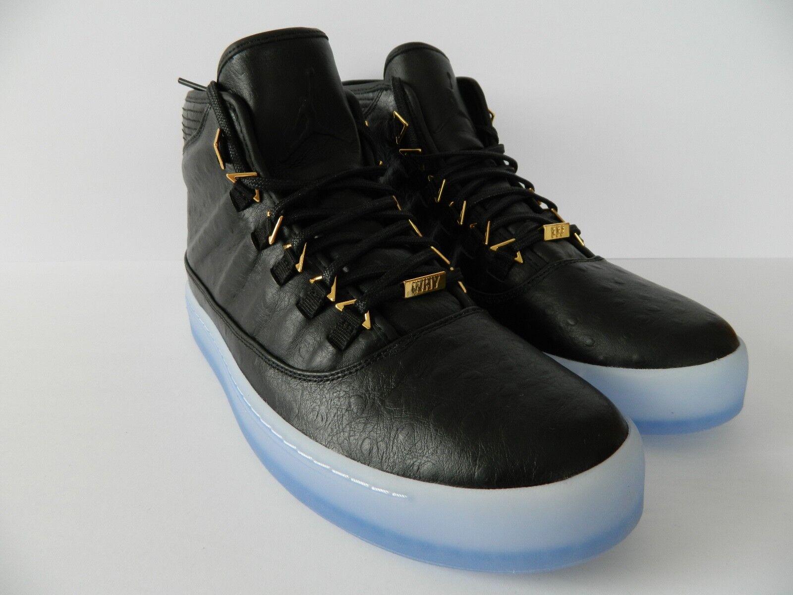 Nike Jordan Westbrook O Prem ( Black Metallic gold-Clear) ( 838817 035 ) NIB