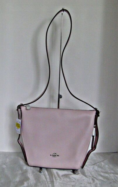6fc30b5402 Authentic Coach Natural Leather Dufflette Pink Crossbody Bag 21377 ...