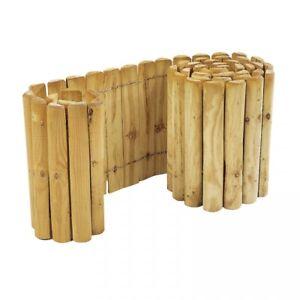 Beeteinfassung Holz beetzaun 250 x 20 cm rollzaun zur beetumrandung rasenkante