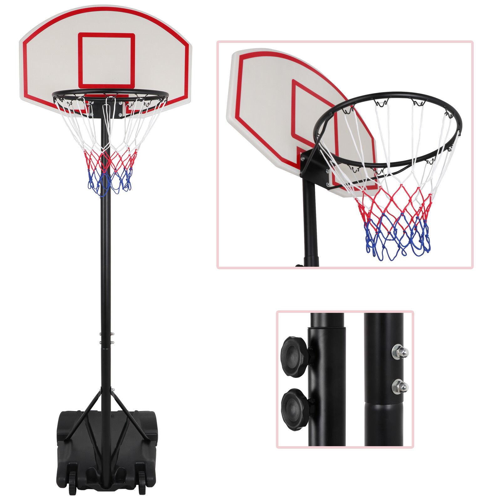 Portable Adjustable Basketball System Hoop Backboard Yard Outdoor Kids Sports Backboard Systems