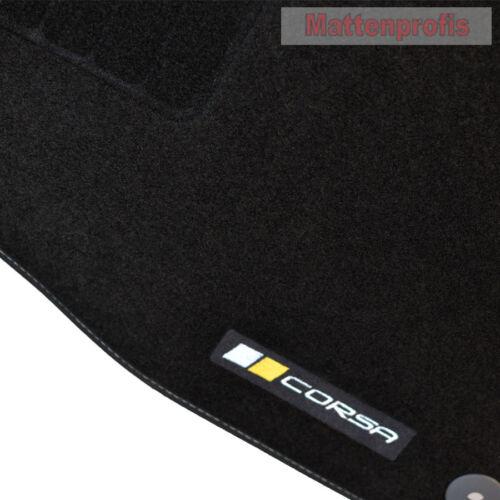 Mattenprofis Velours Logo Fußmatten passend für Opel Corsa E ab Bj.09//2014 Bs