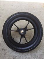 Baby Jogger City Select Stroller Rear Wheel Black Parts 12 1/2 Pram Replacme