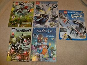 Bionicle-Ignition-2006-1-Lego-Magazine-2-Galidor-2002-Shop-at-Home-Lot