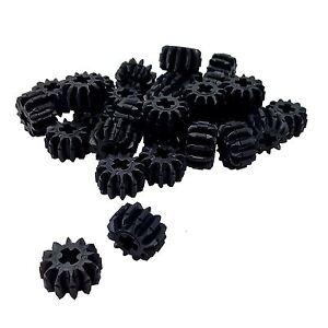 LEGO x 100 Black Technic Gear 12 Tooth Double Bevel NEW bulk lot