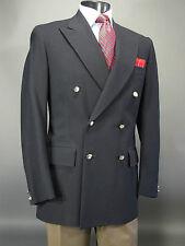 SMITHS BERMUDA Navy Blazer Sport Coat Wool 40L Made n England