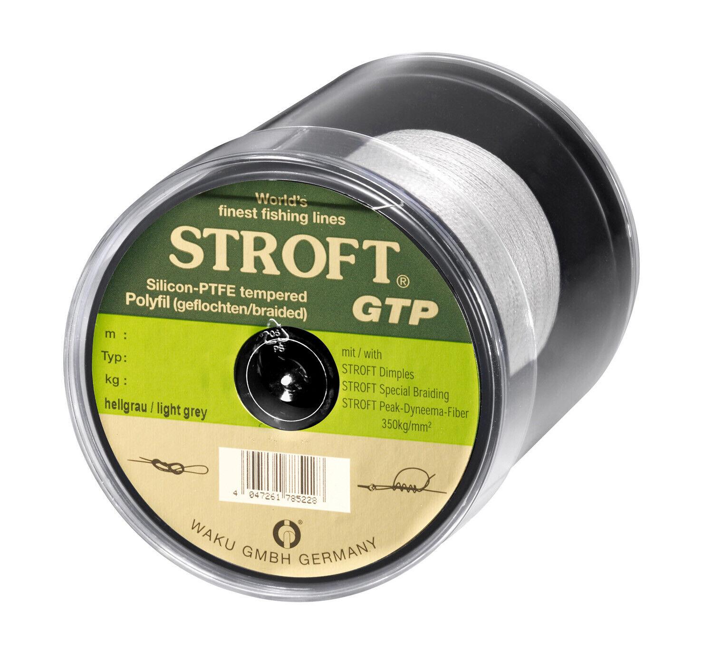 Cable Stroft Gtp  Tipo S Trenzado 500m gris Plata Sedal MM  colores increíbles
