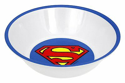 Superman Logo 4pc Warner Bros DC Comics Soup Cereal Party Man of Steel Kid Bowls