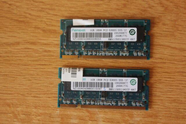2GB 2x 1GB Kit HP Compaq PC2-5300 Part# 485029-001 Memory RAM PRESARIO CQ50 217C