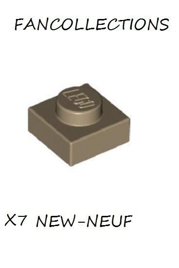 Dark Tan Plate 1x1-3024 NEUF LEGO x 7