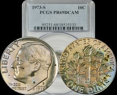 Beautiful Coin! 1973-S Proof Roosevelt Dime