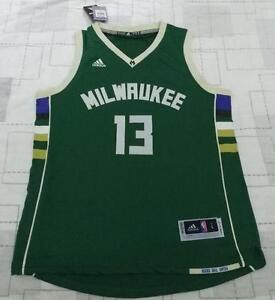 official photos d5480 39dcf Details about Milwaukee Bucks Malcolm Brogdon green Jersey size S M L XL XXL