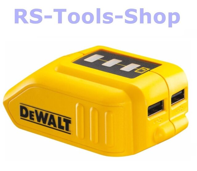 DeWALT DCB090 USB-Ladeadapter für alle XR Akkus 2x USB Ladegerät Powerbank