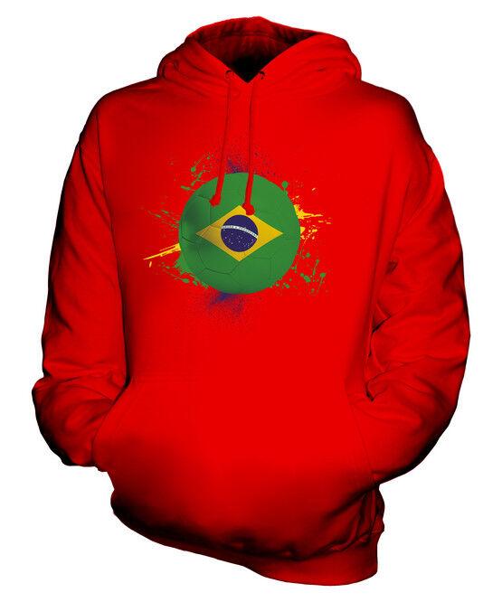 BRAZIL FOOTBALL UNISEX HOODIE TOP GIFT WORLD CUP SPORT
