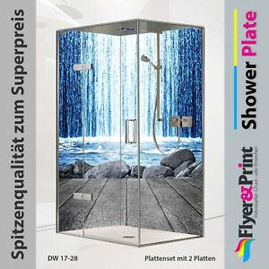 Duschrückwand Duschrückwände Rückwand Alu Fliesenspiegel Wandverkleidung DW17-19