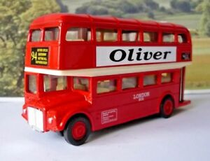 PERSONALISED NAME Gift Red London Diecast Double Decker Toy Bus Model Xmas Boxed