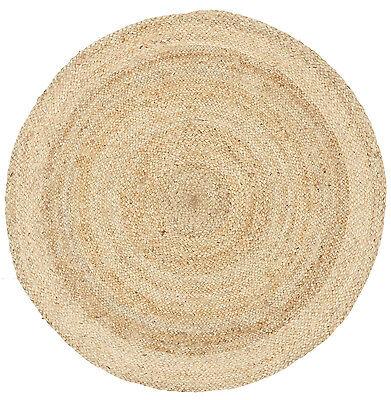 NEW RUG ROUND Circle Sand colour Jute Floor mat Carpet Organic *FREE POST*