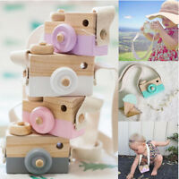 Baby Kids Cute Wood Candy Color Camera Toys Accessory Safe And Natural Toys