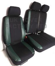 FIAT DUCATO CITROEN RELAY PEUGEOT BOXER VAN SEAT COVERS GREEN TRIMS P50GN
