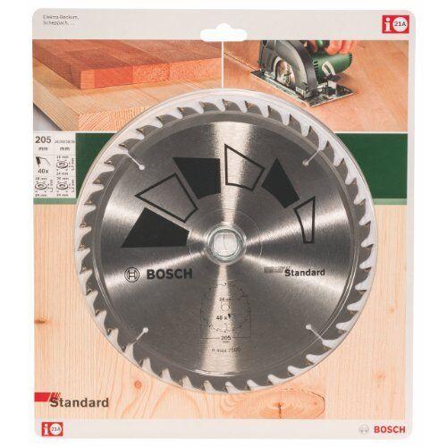 Bosch 2609256822 DIY Kreissägeblatt Basic 205 x 2.2 x 24 18 16,Z40