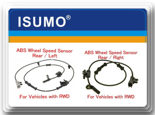 2 ABS Wheel Speed Sensor Rear Left /& Right Fits:300 Charger Challenger RWD 11-15