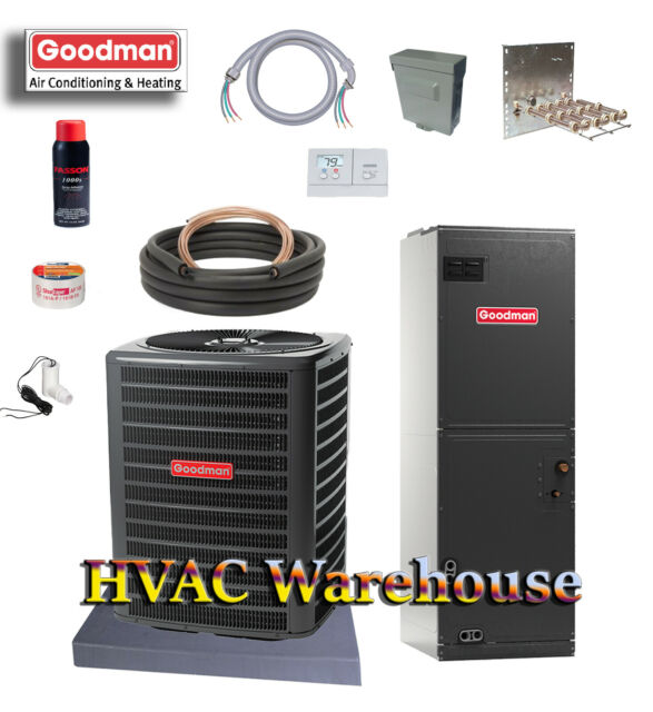 3 Ton 14 SEER Goodman HEAT PUMP Split GSZ140361 & ARUF37C14 R410a INSTALL  KIT