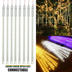 Outdoor-Meteor-Shower-Lights-192-288LEDS-Rain-Drop-Icicle-Lights-Christmas-Party