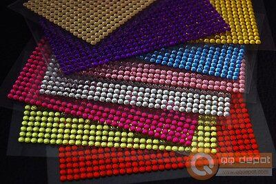 3x High Quality Self-Adhesive 3mm DIY Rhinestone Crystal Sticker 16 Colors USA