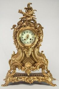 Antique-French-Rococo-Mantle-Clock-106429