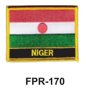 """2-1/2'' X 3-1/2"""" NIGER Flag Embroidered Patch"""