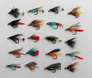 Quality-Fly-Fishing-20-Assorted-Gold-Head-Bead-Wet-Flies-For-Trout-Fishing