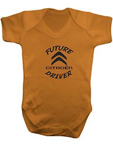 Controlador de Citroen futuro-Color Body Bebé Baby Chaleco-Romper 100/% algodón