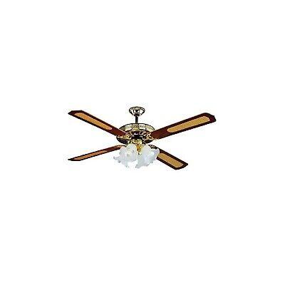 Vortice Lampadari A Pale.Ventilatore A 4 Pale Da Soffitto Silenzioso Con Luce Vortice Lampadario Legno Dc Ebay