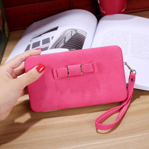 Fille Femmes Lady PU cuir embrayage portefeuille long porte-carte sac à main box Sac A Main Sac